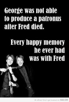 :( Worst fictional death ever for me. Will never get over the fact that Fred died. I remember just staring at the page when it happened and bawling... I had no idea it was coming and it was awful!!!!!!