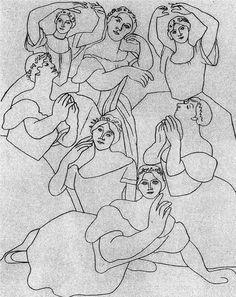Seven Ballerinas 1919  Pablo Picasso