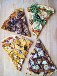 Pizza party (chicken bbq, italian, bluecheese and mexican)