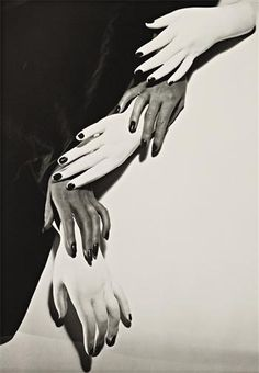 Hands, New York by  Horst P. Horst German artist Photography 1906-1999    fashion photographer