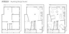 台北 40 坪三面陽台綠意老屋 - DECOmyplace Small Apartment Plans, Small Apartments, Architecture Details, Floor Plans, Layout, Flooring, How To Plan, Interior Design, Deco