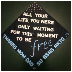 My graduation cap #graduation #graduationcapdecoration #diy #gradcap #beatles #graduationcapideas