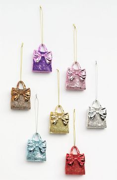 Nordstrom at Home 'Glitter Bow Tote' Ornament available at #Nordstrom