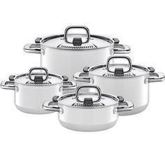 Jogo De Panelas Silit Nature Branca 8 Peas Cookware Set Kitchen Products White Pot