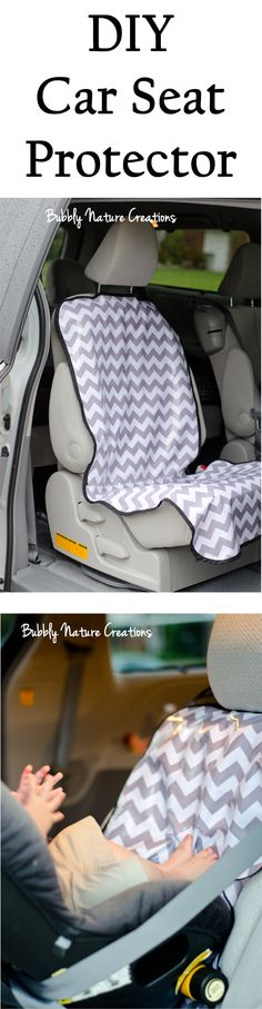 DIY Car Seat Protector.  Great for catching all those stray fries and crumbs