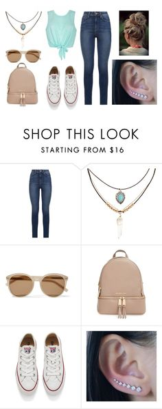"""A Day @ School"" by gigi360 ❤ liked on Polyvore featuring Ally Fashion, Paige Denim, Accessorize, Yves Saint Laurent, MICHAEL Michael Kors and Converse"