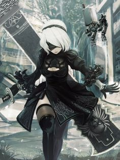 nier: automata Anime pictures and wallpapers search Comic Manga, Anime Comics, Manga Anime, Video Game Characters, Female Characters, Anime Characters, Anime Meme, Character Art, Character Design