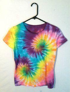 Tie Dye Womens Shirt   Double Rainbow by RainbowEffectsTieDye, $13.00
