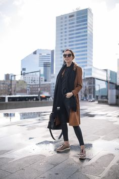 suede coat acne scarf outfit
