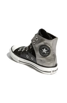 awesome Converse - love the silver and patent leather combo