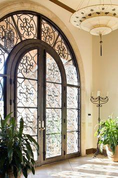 Iron and glass door, Jauregui Architects