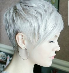"7,163 Likes, 78 Comments - Short Hairstyles   Pixie Cut (@nothingbutpixies) on Instagram: ""Give me one word to describe @sarahb.h cut and color.  She has been using @pompsalon No yellow…"""