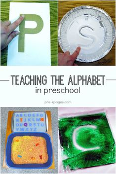 Teaching the alphabet in preschool, pre-k, and kindergarten. Hands-on learning activities and ideas to make learning the alphabet fun! Teaching the Alphabet Ideas and activities for teaching the al… Toddler Learning, Preschool Learning, Kindergarten Classroom, Pre K Activities, Preschool Activities, Color Activities For Preschoolers, Letter T Activities, Letter Identification Activities, Teaching Letter Recognition