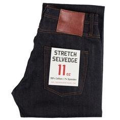 Unbranded Brand- UB322 Straight Fit 11oz Stretch Selvedge