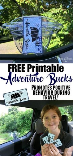 FREE Printable Adventure Bucks for Family Travel - promotes positive behavior on long road trips!