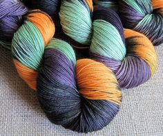 Witches Brew - SW Merino & Nylon Fingering Sock Yarn, Hand Dyed by GnomeAcres, $21.00