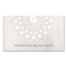 298 best yoga instructor business cards images on pinterest white lotus mandala yoga and meditation teacher business card reheart Images
