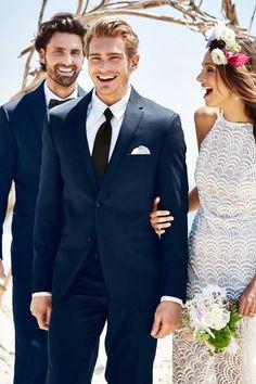 New Suit Available at Ella Park Bridal | Newburgh, IN | 812.853.1800| Michael Kors Navy Sterling Wedding Suit Slim Fit Suit | Jim's Formal Wear