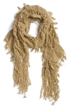 Love this fringe scarf.