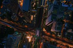 Image result for city by night drone gif