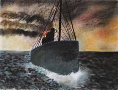 Sailing away with the sunset. Soft pastel on paper. Size : x After The Storm, Sail Away, Paper Size, Size 16, Sailing, Original Art, Pastel, Sunset, The Originals