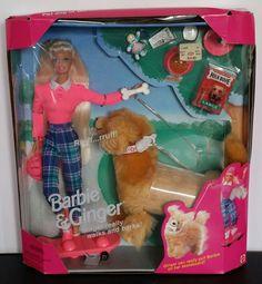 Barbie & Ginger Pet Dog of Barbie Playset 1997 Mattel New Factory Sealed Barbie Dog, Barbie Dream, Barbie And Ken, Barbie Camper, Vintage Barbie, Vintage Dolls, Barbie Furniture, Childhood Toys, Childhood Memories