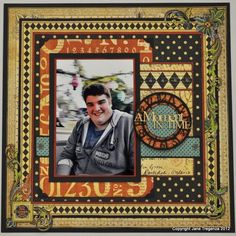 A wonderful layout by @Jane Tregenza of her son with our Olde Curiosity Shoppe collection! Click for a tutorial! The inspiration continues #graphic45 #layouts