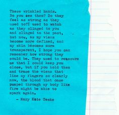 Typewriter Poem #144 | Mary Kate Teske