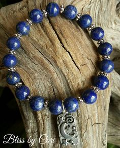 "Lapis Lazuli ""Sun, Moon, Stars""  Stretch Bracelet  - Reiki, Energy, Spiritual, Yoga, Boho, Mala, Blue *FREE SHIPPING*  by BlissbyCori on Etsy $30.00"