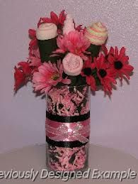 table centerpieces for baby girl shower - Google Search