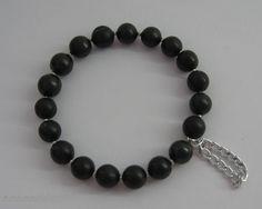 "Bracelet ""The Galaxy"" on elastic band | Bracelets Schungite | LTD Karelian horizon"