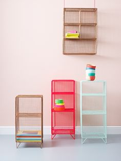 Grid Three Shelf Storage Unit | Storage & Shelving | Velvet and Cotton Tub Chairs, handmade Mango Wood furniture and Colourful Garden Furniture all available now. | Oliver Bonas