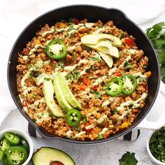 Taco Cauliflower Rice Skillet (Paleo, GF, Taco Cauliflower Rice Skillet - (AD) This quick and easy recipe uses one simple Sprouts Farmers Market shortcut and a whole lot of flavor to make a dinner the whole family will love. Cauliflower Recipes, Cauliflower Rice, Cauli Rice, Paleo Recipes, Whole Food Recipes, Cooking Recipes, Whole 30 Easy Recipes, Whole 30 Meals, Plant Based Dinner Recipes