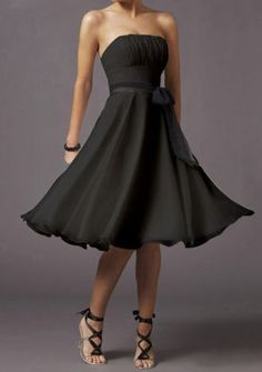 simple black bridesmaid dress-- love the dress but would def want in a more fun color!