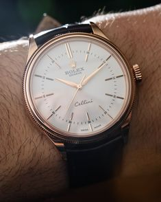 Hands-on review & original photos of the Rolex Cellini Time watch with price, background, specs, & expert analysis.