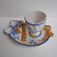 French Vintage Egg Cup From Quimper