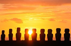 """Ahu Tongariki at sunrise, Easter Island,"" by luthor522, via Flickr"