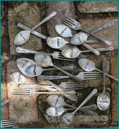 silver spoon garden markers