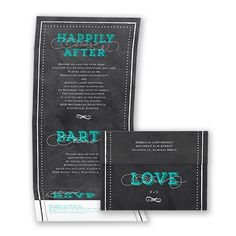 Chalkboard Delight - Seal and Send Wedding Invitation - Inexpensive at Invitations By David's Bridal