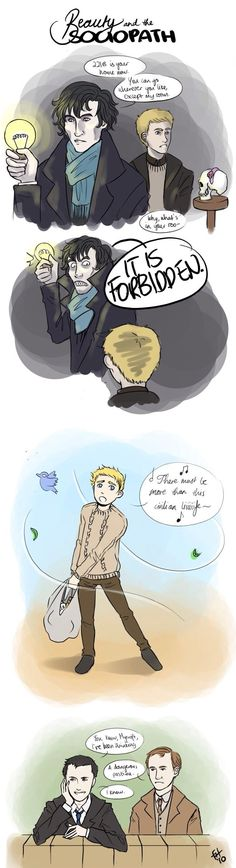 Sherlock BBC - Beauty an the Beast Crossover This is the best!!!