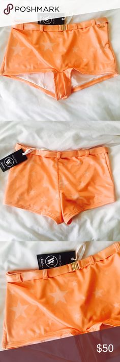 Wildfox Retro Swim Bottoms NWT ✨ Wildfox retro 60's swim bottoms with belt - High waisted ✨ Wildfox Swim Bikinis
