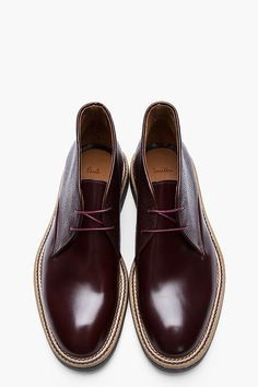 PAUL SMITH    Mahogany leather Chukkas menstyle menswear style guy boy men  fashion way cool! fdeaa0b26a7