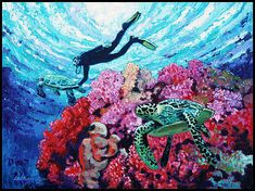 John Lautermilch - Playing with the Sea Turtles Artwork Online, Buy Art Online, Online Painting, Online Art Gallery, Sell Artwork, Sea Turtle Painting, Nature Artwork, Pastel Art, Sea Turtles