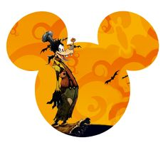 Halloween Goofy and tons of disney Halloween art.