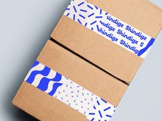 New Work script confetti box blue pattern brandmark logo brand identity branding vis party packaging Packaging Carton, Craft Packaging, Packaging Stickers, Paper Packaging, Logo Branding, Branding Design, Brand Identity, Branding Ideas, Corporate Branding