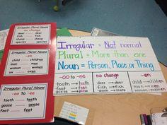 Irregular Plural Nouns Anchor Chart/Poster