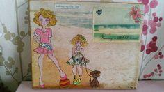 Prima dolls- At the beach canvas...
