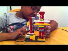 Lego WeDo Robotics - Space Shuttle Launch Here is Aryan (my Junior) with his WeDo Robotics.he has designed it completely including the launch tower and the. Lego Wedo, Teaching Computers, Young Engineers, Passion Project, Space Shuttle, Control, Primary School, Computer Science, Product Launch