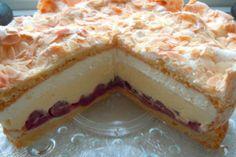 Gewitter-Torte mit Schmand – Leckere Rezepte Storm cake with sour cream – delicious recipes Baking Recipes, Cake Recipes, Sour Cream Cake, Sweet Cakes, Cakes And More, Cake Cookies, No Bake Cake, Sweet Recipes, Food Cakes