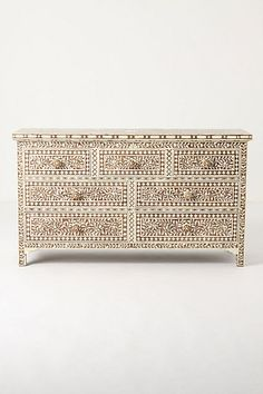Ivory Etched Dresser  #anthropologie